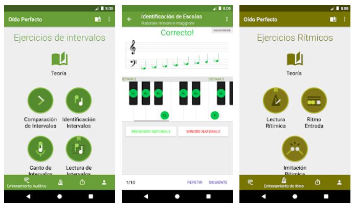 Aplicación para músicos: oído perfecto
