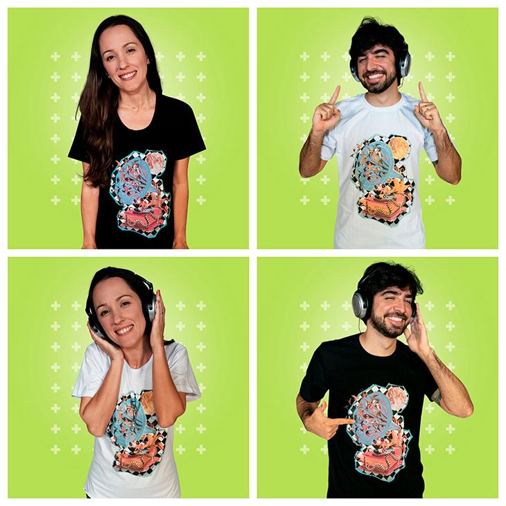 A Camiseta Gramofone | Just Jazz é um dos novos produtos do Cifra Club