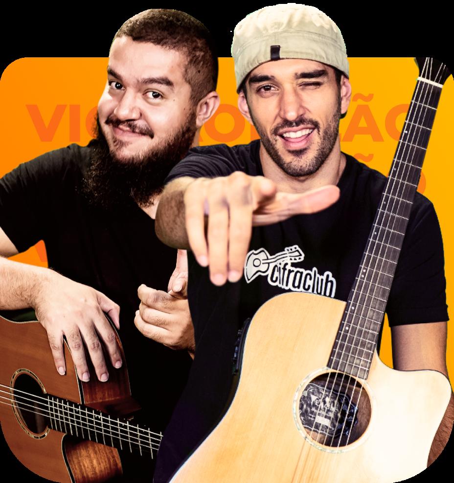 Fofão e Leo são os responsáveis pelo curso de violão do Cifra Club Academy