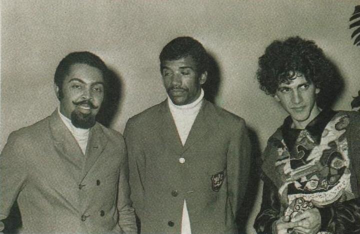 Gilberto GIl, Jorge Ben e Caetano Veloso, durante os anos 60