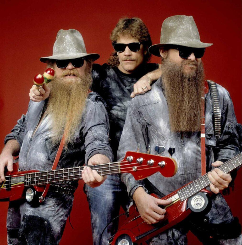 O power trio ZZ Top é referência nas músicas internacionais dos anos 70