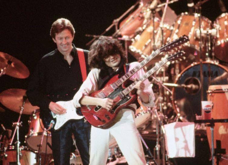 Page e Clapton fizeram muitos hits das músicas internacionais dos anos 70