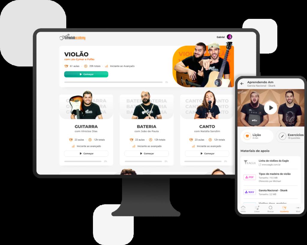 Cifra Club Academy é uma plataforma de ensino de música online