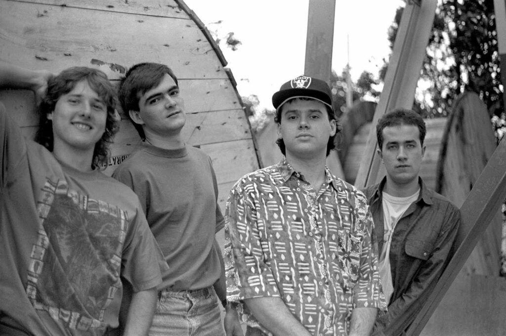 Membros do Skank no começo da carreira