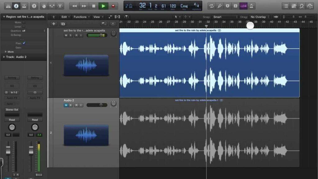 Interface do afinar de voz da Apple