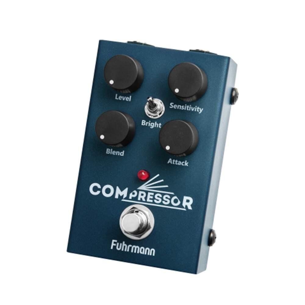 Pedal compressor da Fuhrmann, item fundamental na sequência para  ligar pedais de guitarra