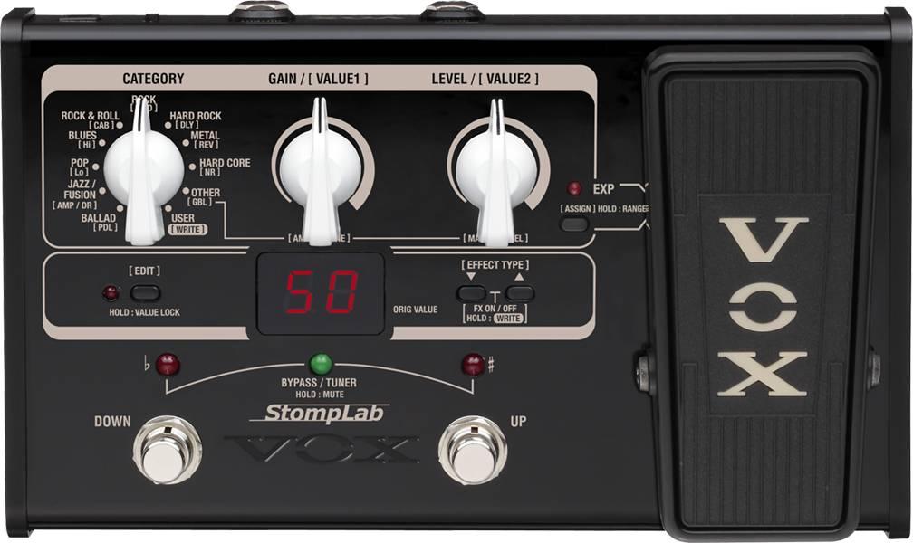 StompLab 2G, da VOX, pedaleira de guitarra para iniciantes