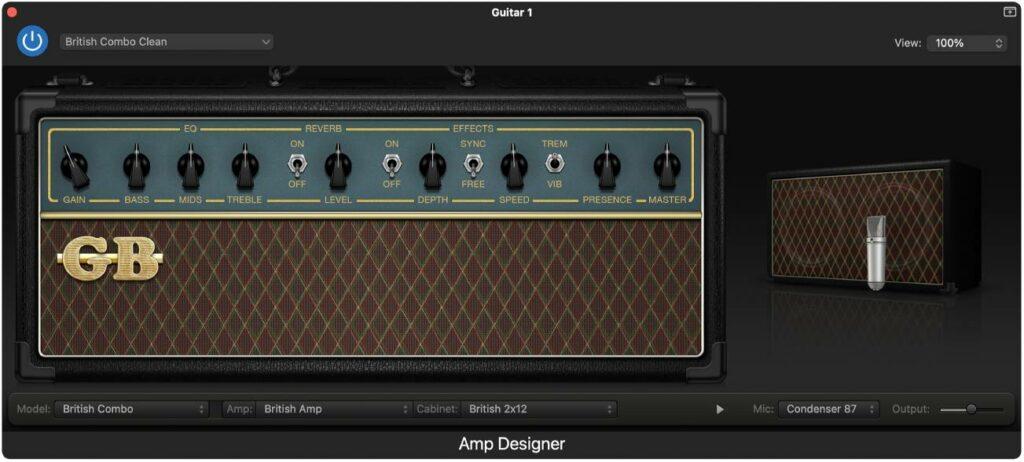 Amp Designer, um dos recuros disponíveis em algumas DAWs gratuitas