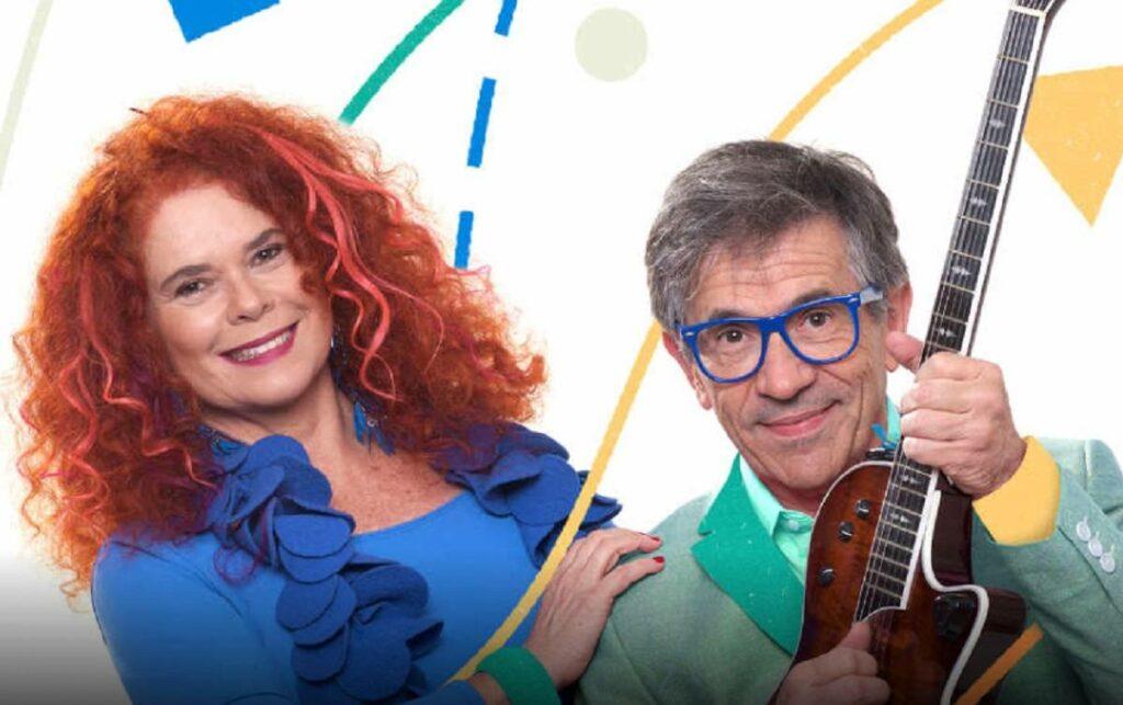 Paulo Tatit e Sandra Peres, membros da Palavra Cantada, artistas de música infantil