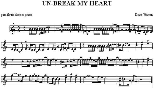 la letra de la cancion unbreak my heart: