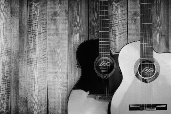 Guitarras con cuerdas de acero y nylon