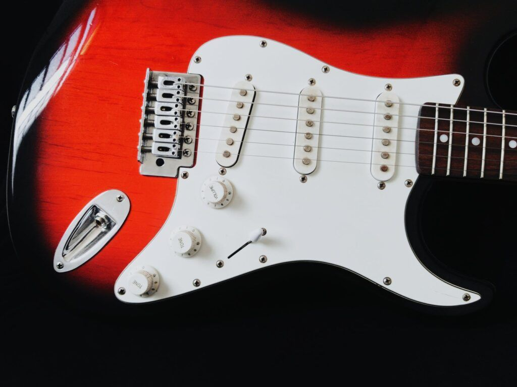 imagen de guitarra eléxtrica con pastillas