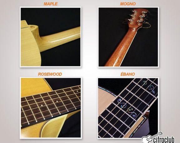 tipos de madera para el diapasón y mástil de la guitarra