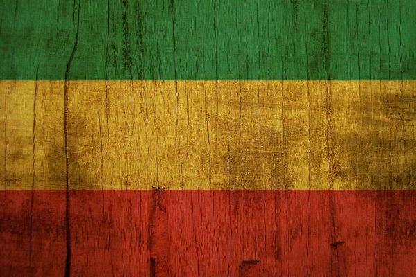A bandeira do reggae pode inverter as cores da bandeira etíope