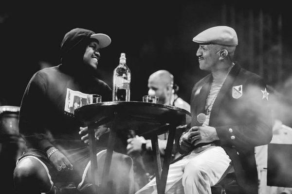 Djonga e Mano Brown, ícones do rap brasileiro