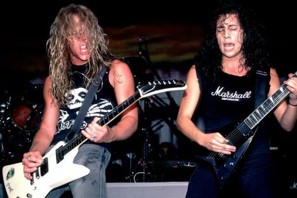 James Hetfield e Kirk Hammett, guitarristas do Metallica