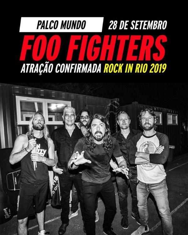 Foo Fighters faz show no Rock in Rio 2019
