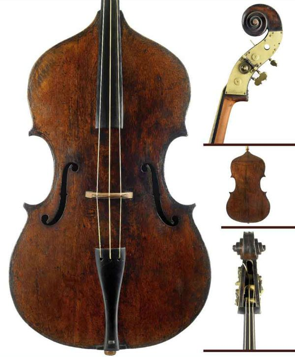 Baixo de três cordas foi popularizado por Domenico Dragonetti, durante o século XV