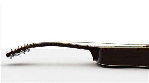 Braço de violão empenado