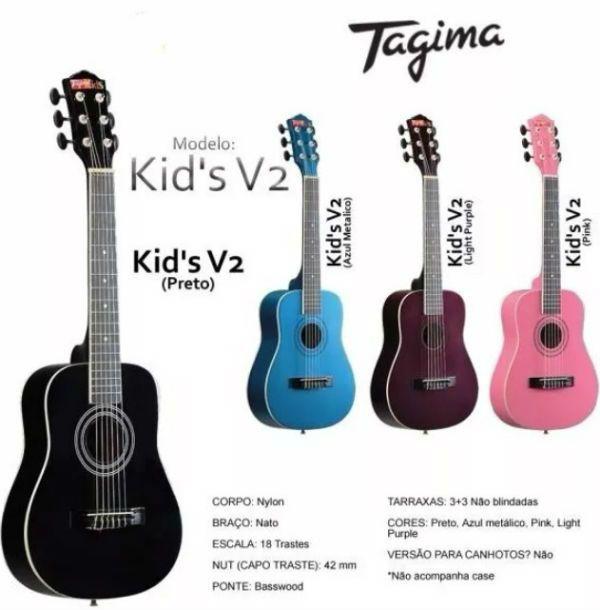 Tagima Kids é uma linha de violões para crianças