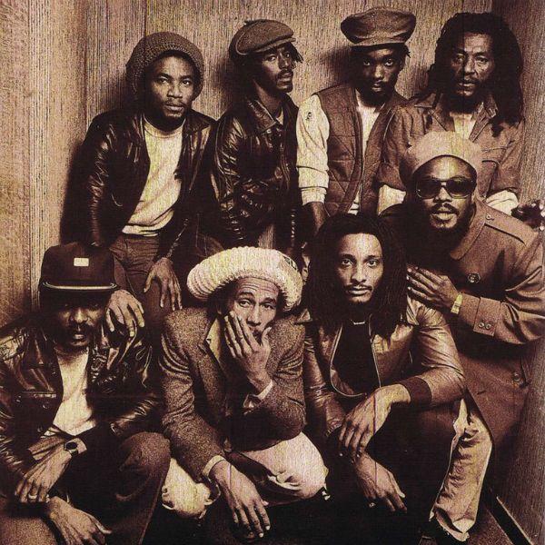 Integrantes da banda Bob Marley & The Wailers, em algum momento da década de 1970
