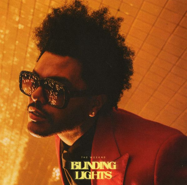 Capa do single Blinding Lights, hit do cantor The Weeknd