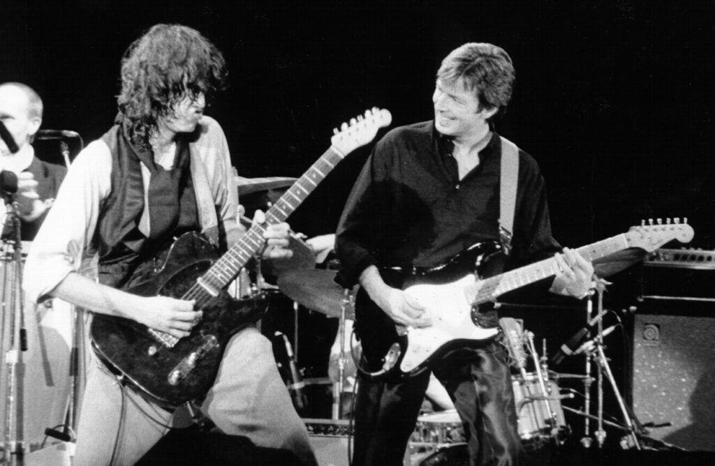 Jimi Page e Eric Clatpon: especialistas em fazerem os melhores solos de guitarra