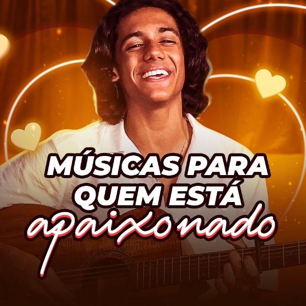 O cantor Lucas Mamede posa na imagem com o título: Músicas Para Quem Está Apaixonado