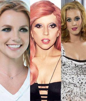 Britney Spears, Lady Gaga e Katy Perry
