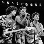Dé, Cazuza e Frejat detonando no Rock in Rio I, 1985 (Reprodução/Facebook)