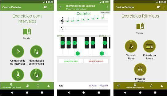 Ouvido Perfeito, app que ajuda a melhorar a percepção musical