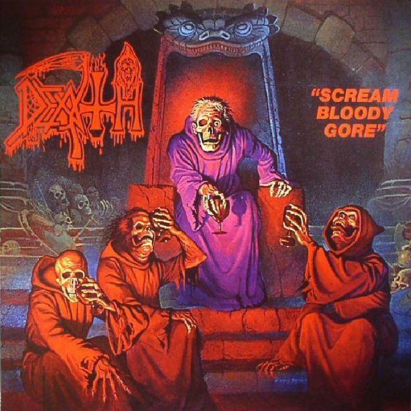 "Capa de ""Scream Bloody Gore"", disco seminal do death metal"