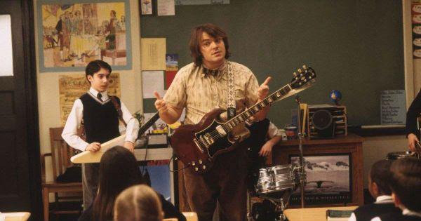 """Joseph Gaydos e Jack Black, durante o filme """"Escola de Rock"""""""
