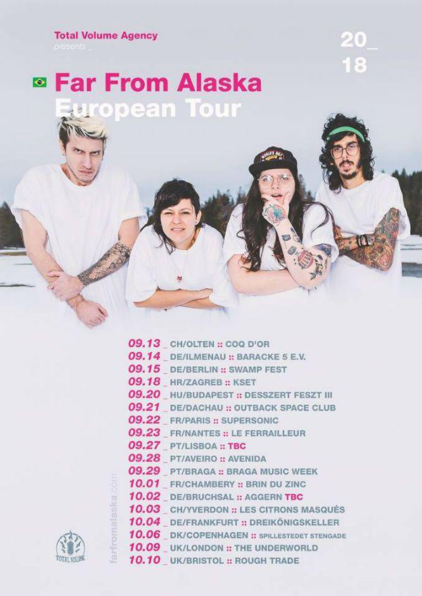 Cartaz da turnê europeia mais recente do FFA