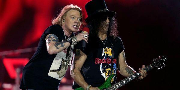 Axl e Slash estão trabalhando no novo disco do Guns N' Roses