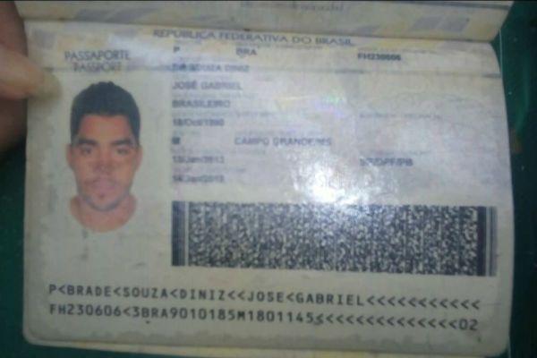 Passaporte de Gabriel Diniz