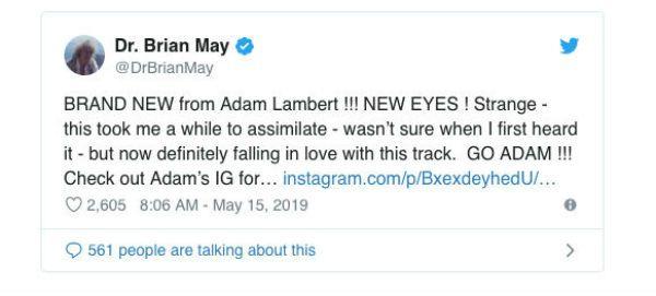 A tuitada de Brian May