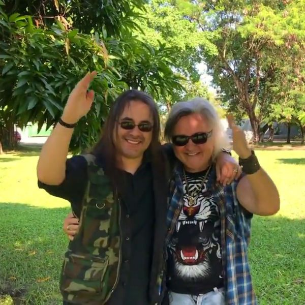 Andre Mattos e Robertinho do Recife, ícones do rock pesado