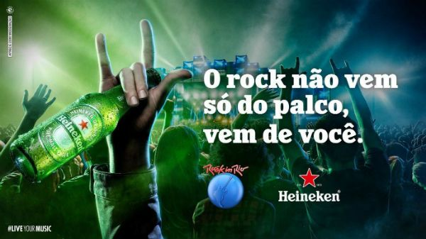 Heineken é a cerveja oficial do Rock in Rio
