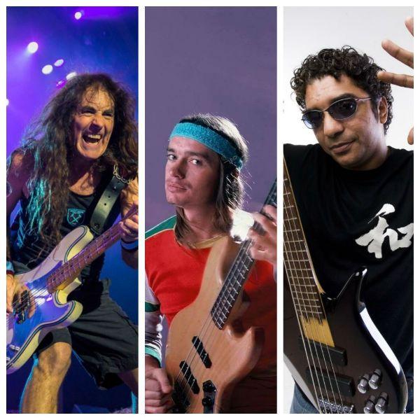 Image agrupa Steve Harris, Jaco Pastorius e Arthur Maia, três baixistas influentes