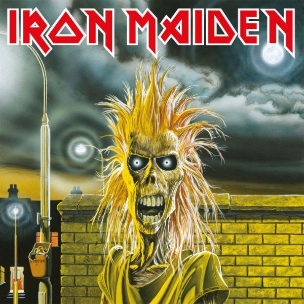 Um Eddie assustado estampa a capa do disco Iron Maiden