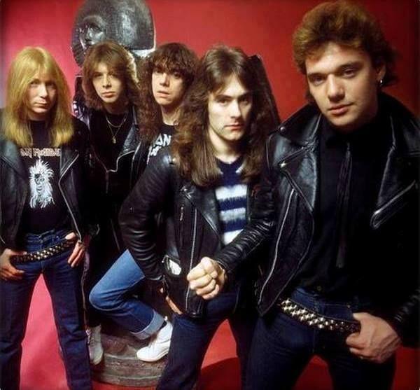 Formação do Iron Maiden com o vocalista Paul Di'Anno