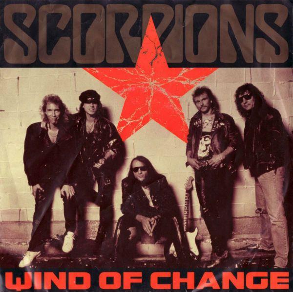 Imagem de divulgação do single wind of change, da banda Scorpions, lançado em 1991