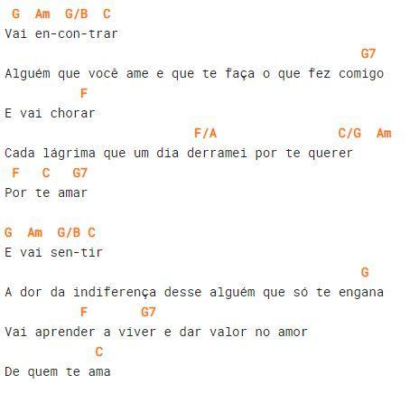 Cifra do refrão da música Te Amar Foi Ilusão, sucesso de Bruno & Marrone