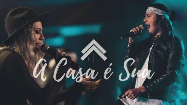 Vocalistas do ministério Casa Worship, durante o vídeo do hit A Casa é Sua