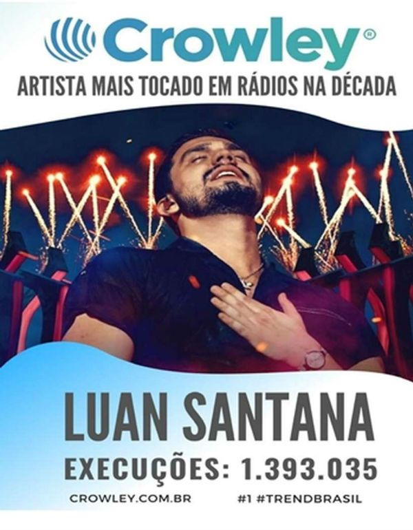Luan Santana é o artista da última década
