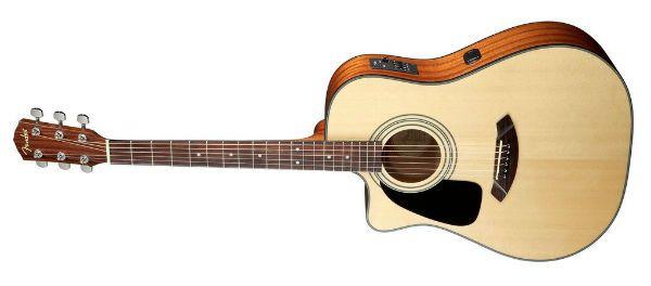 Modelo de violão para canhoto da marca Fender