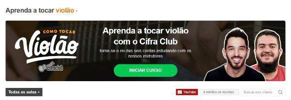 Curso de violão online e gratuito do Cifra Club