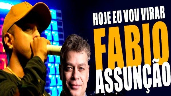 Montagem coloca na mesma imagem o vocalista da banda La Fúria e o ator Fábio Assunção