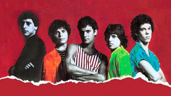Membros da formação original do Barão Vermelho posam para divulgação do disco de estreia